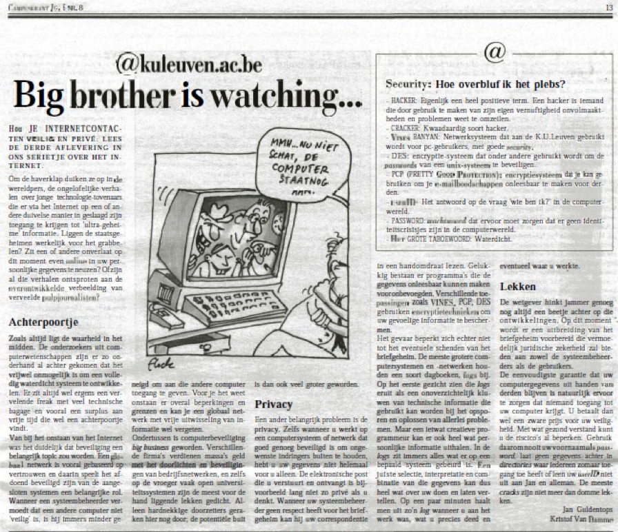 "Campuskrant: ""@kuleuven.ac.be: Big Brother is watching"""