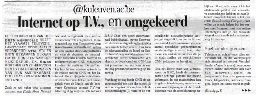"""Campuskrant: """"@kuleuven.ac.be: Internet op TV en omgekeerd"""""""